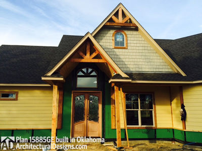 Affordable Gable Roofed Ranch Home Plan - 15885GE thumb - 04