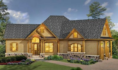Classic Hip Roofed Cottage with Options - 15886GE thumb - 01