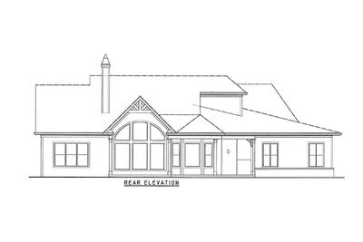 Rustic Hip Roof 3 Bed House Plan 15887GE Architectural Designs