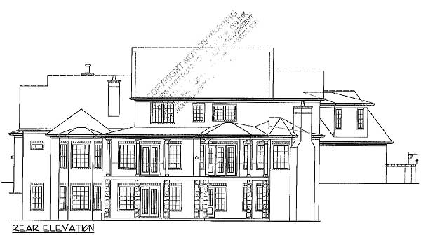 European home with 2 story library 15899ge 1st floor for House plans with 2 story library