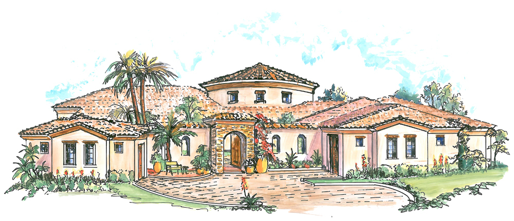 Courtyard house plan with casita 16313md architectural for Mexican casita house plans