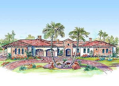Unique Courtyard Home Plan - 16314MD thumb - 01