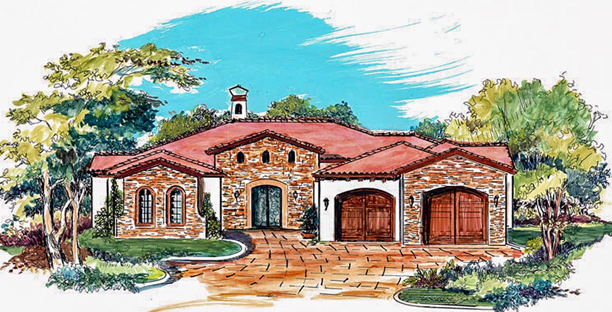 Central courtyard 16359md architectural designs for Central courtyard house designs
