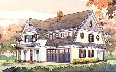 2 story passive solar gambrel house plan 16503ar for Gambrel house floor plans