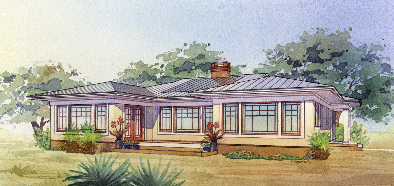 Southwest Passive Solar Design 16508ar Architectural