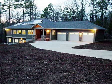 Energy efficient ranch on basement 16713rh for Ranch style house plans with basement