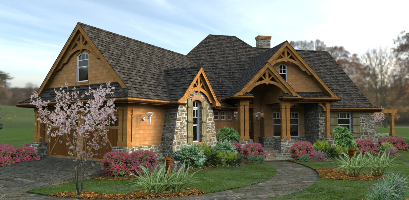Rustic mountain retreat house plans home design and style for Mountain style house plans