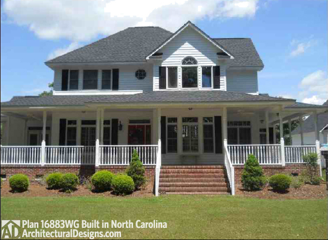 House plan 16804wg comes to life in north carolina for North carolina home designs