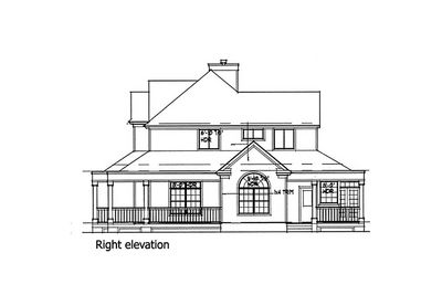 Country Farmhouse with Wrap-around Porch - 16804WG thumb - 05
