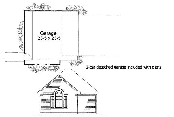 Country Farmhouse with Wraparound Porch - 16805WG floor plan - 3rd Floor
