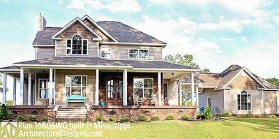 Country Farmhouse with Wraparound Porch - 16805WG thumb - 02