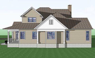 Country Farmhouse with Wraparound Porch - 16805WG thumb - 06