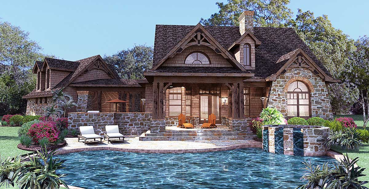 Stone home plans at dream home source homes and house for Stone cottage plans and photos