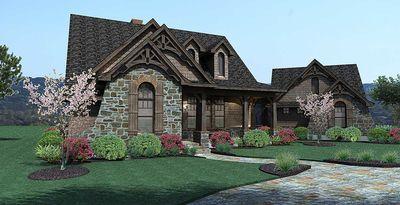 Stone Cottage with Flexible Garage - 16807WG thumb - 02