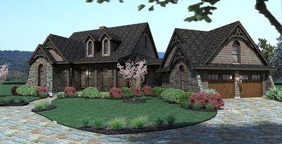 Stone Cottage with Flexible Garage - 16807WG thumb - 03