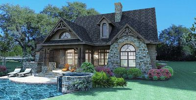 Stone Cottage with Flexible Garage - 16807WG thumb - 06