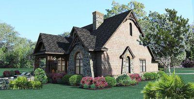 Stone Cottage with Flexible Garage - 16807WG thumb - 07
