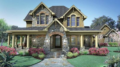 Cedar & Stone Cottage with Detached Garage - 16808WG thumb - 02