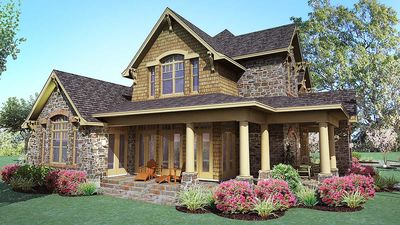 Cedar & Stone Cottage with Detached Garage - 16808WG thumb - 04