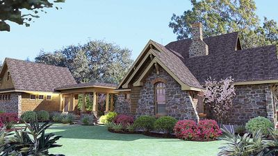 Cedar & Stone Cottage with Detached Garage - 16808WG thumb - 06