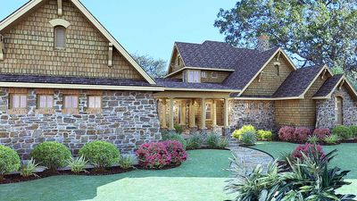 Cedar & Stone Cottage with Detached Garage - 16808WG thumb - 08