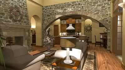 Luxury Plan with Tuscan Influences - 16811WG thumb - 16