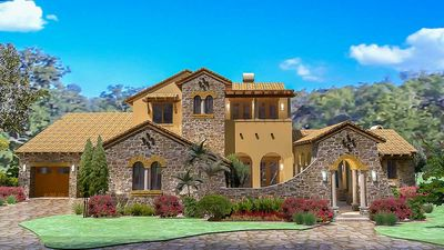 Luxury Plan with Tuscan Influences - 16811WG thumb - 01