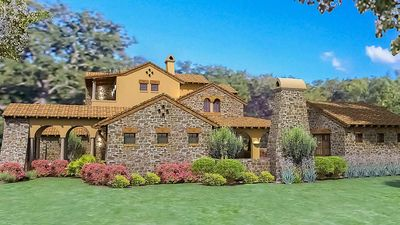 Luxury Plan with Tuscan Influences - 16811WG thumb - 02