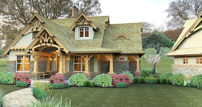 Rustic Look with Detached Garage - 16812WG thumb - 14