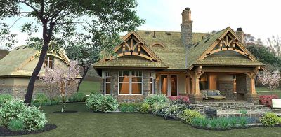 Rustic Look with Detached Garage - 16812WG thumb - 18