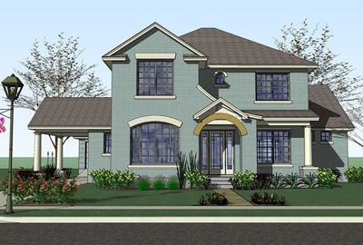Traditional home with porte cochere 16816wg 1st floor for Porte cochere house plans