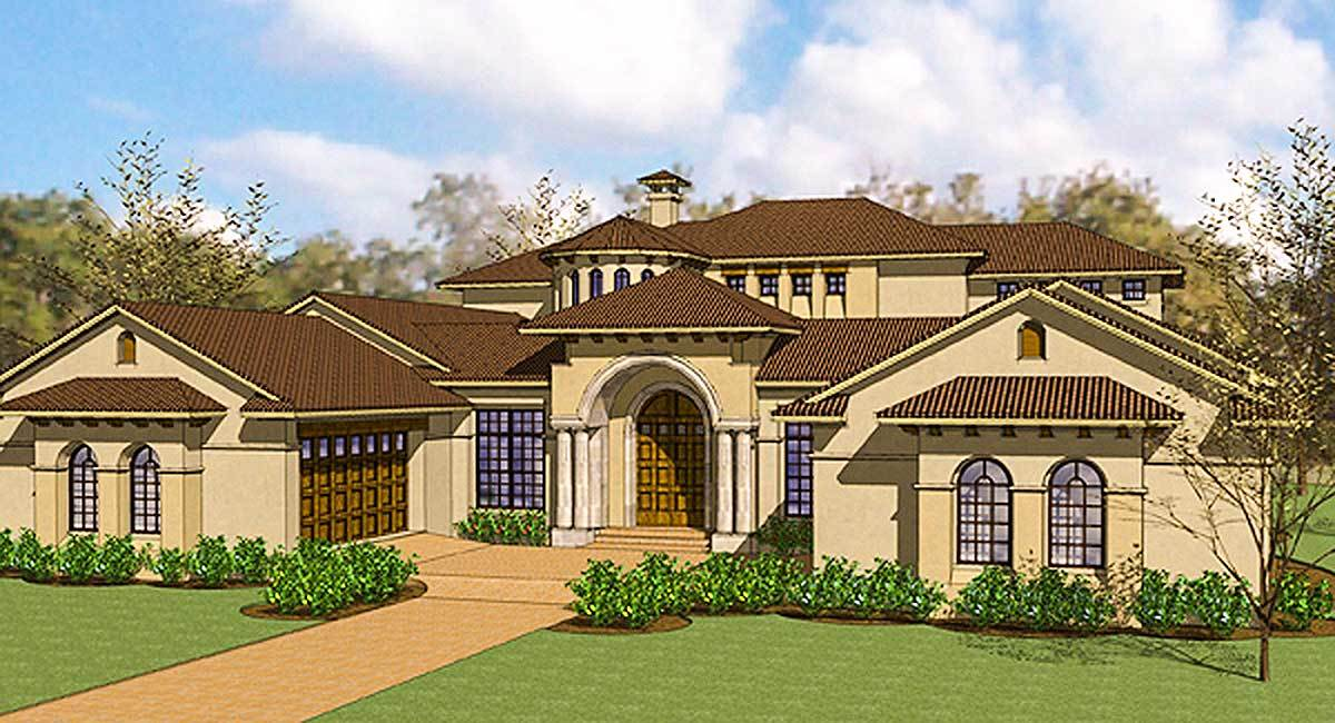 Exciting courtyard mediterranean home plan 16826wg for Florida mediterranean house plans