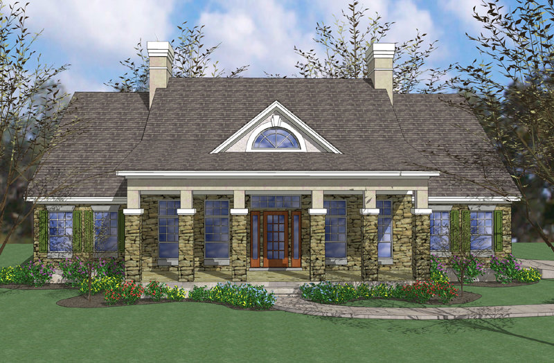 Covered porches on southern home plan 16829wg Covered porch house plans