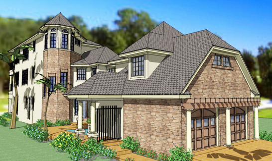 Narrow lot with guest quarters 16842wg 2nd floor for House plans with inlaw quarters