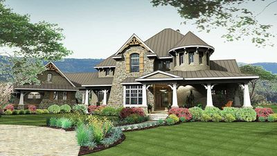 Remarkable Family Home Plan - 16847WG thumb - 01