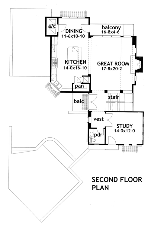 Upside down contemporary 16848wg architectural designs for Upside down house floor plans