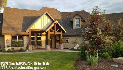 House plan 16851wg client built in utah for Craftsman house plans utah