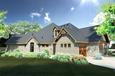 Rugged Craftsman Dream Home Plan - 16851WG thumb - 09
