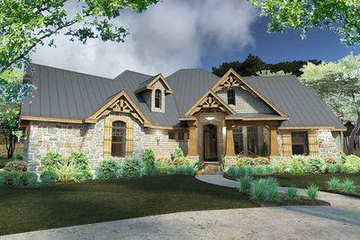 Rugged Craftsman Dream Home Plan - 16851WG thumb - 02