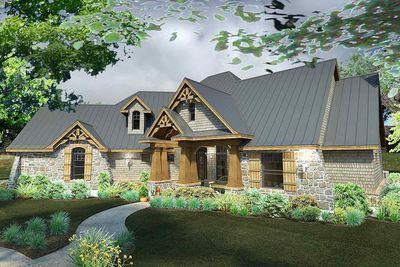 Rugged Craftsman Dream Home Plan - 16851WG thumb - 04