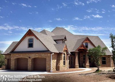 Plan 16851WG ArchitecturalDesigns.com. Rugged Craftsman Dream Home Plan    16851WG Thumb   01 ...