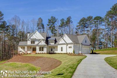Modern Farmhouse Plan 16853WG comes to life in Georgia! - photo 003