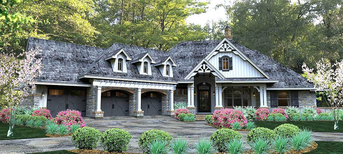 New look mountain retreat 16860wg architectural for Architectural design mountain home plans