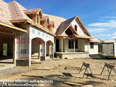 House Plan 16860WG comes to life in Kentucky! - photo 004