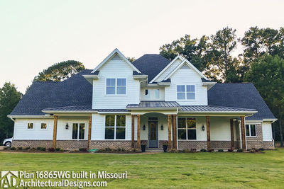 House Plan 16865WG comes to life in Missouri - photo 001