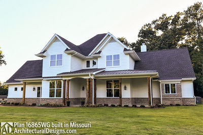 House Plan 16865WG comes to life in Missouri - photo 002