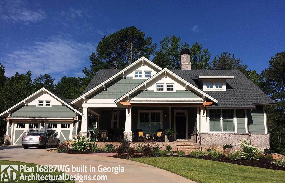 3 bedroom house plan with swing porch 16887wg for Plan of bedroom designs