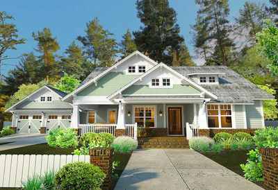 3 Bedroom House Plan With Swing Porch - 16887WG | Architectural ...