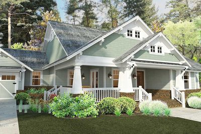 3 Bedroom House Plan With Swing Porch - 16887WG thumb - 09
