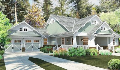 3 Bedroom House Plan With Swing Porch - 16887WG thumb - 06